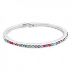 Bracelet rigide à rangé de strass multicolores