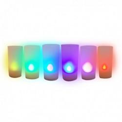 Bougie à éclairage LED multicolore