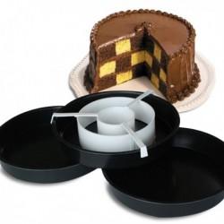 Kit moules à gâteau damier