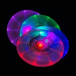 Frisbee lumineux 7 couleurs en plastique
