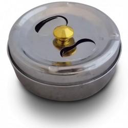 Cendrier en acier rotatif