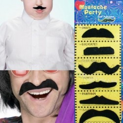 Moustaches adhésives déguisement