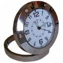 Horloge miniature ronde caméra espion