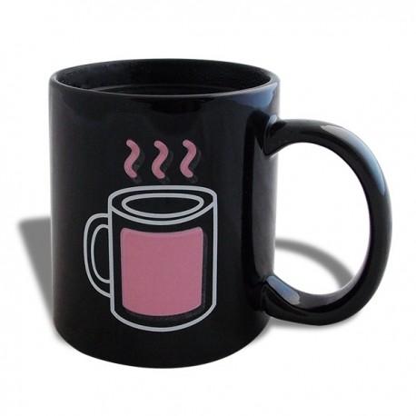 Tasse thermo-changeante mug fumant