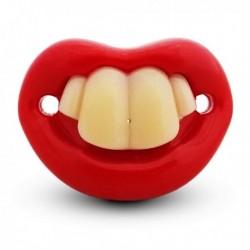 Sucette humoristique avec 4 dents