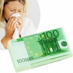 Paquet de mouchoirs billets de 100 euros