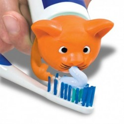 Embout chat distributeur de dentifrice