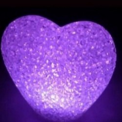 Cœur lumineux LED à couleur variable