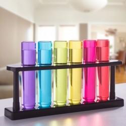 6 verres à shot tube à essai