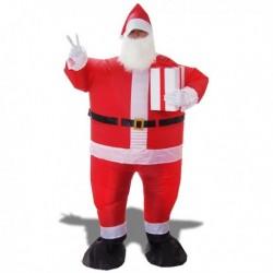 Costume gonflable Père Noël avec cadeau