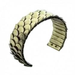 Bracelet larges écailles dorées