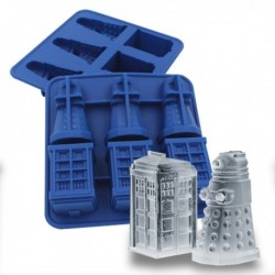 Bac à glaçons Tardis et Dalek série Dr Who