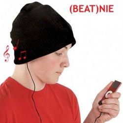 Bonnet noir avec écouteurs et micro intégrés