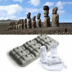 Moule pour glaçons silicone en forme du monument Moaï