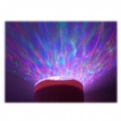 Lampe effet aurore boréal avec haut-parleur intégré