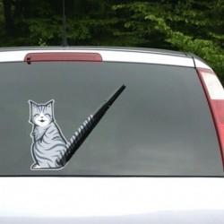 Sticker chat pour pare-brise et essuie-glace de voiture