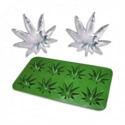 Bac à glaçons feuille de cannabis