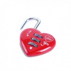 Cadenas coeur rouge à code à 3 chiffres