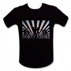 T-shirt LED interactif avec image de danseurs