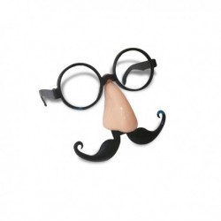 Masque à lunettes, nez et moustache assortis