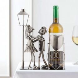 Support pour bouteille de vin scène d'amoureux