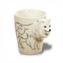 Tasse tête de chien loup en 3D