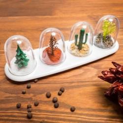 Distributeurs à épices en forme de cloche 4 saisons