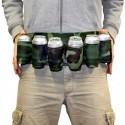 Ceinture militaire avec 6 porte-canettes