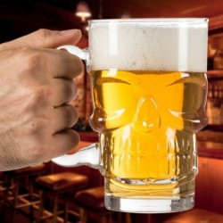 Chope à bière tête de mort 550 ml