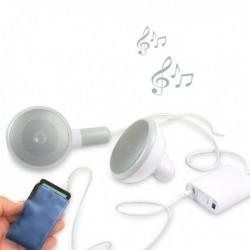 Haut-parleurs en forme d'écouteurs géants