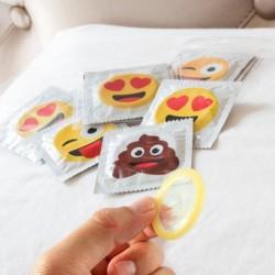 Lot de 6 préservatifs style émoji