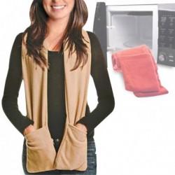 Écharpe chauffante à poches micro-ondes