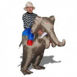 Costume gonflable aventurier enfourchant un éléphant