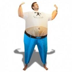 Costume gonflable entraîneur sportif avec un gros ventre
