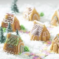Moule à gâteau petit village en silicone