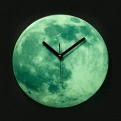 Horloge murale fluorescente lune