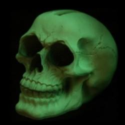 Tirelire à tête de mort lumineux dans l'obscurité