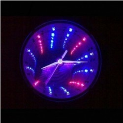 Horloge tunnel à éclairage LEDs
