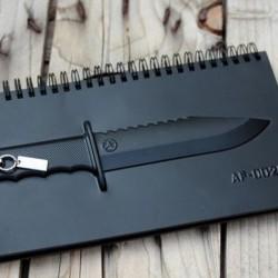 Carnet de note couteau en relief