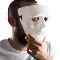 Masque en plastique visage anonyme