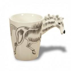 Mug anse tête de cheval 3D
