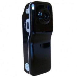 Mini caméra brillante en plastique noire