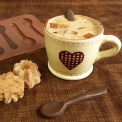 Moule à chocolat en forme de petites cuillères