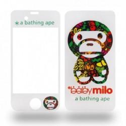 Sticker pour iPhone 4 transparent et singe en motif fruit