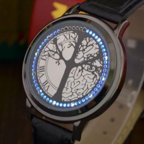 Montre à écran tactile et lumière LED motif arbre