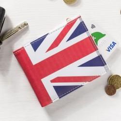 Portefeuille à revêtement imitation drapeau britannique