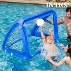 Cage gonflable avec ballon pour partie de foot aquatique