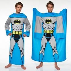 Couverture polaire à manches longues au logo Batman