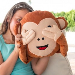Coussin expressif tête de singe géant