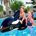 Baleine gonflable à poignées